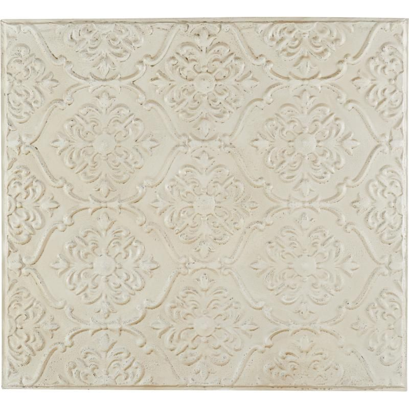 WALL PANEL METAL ANTIQUE WHITE 90 - WALL PANEL