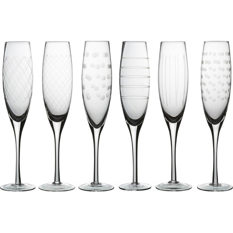 CHAMPAGNE GLASS CUTTINGS 6 PCS. SET