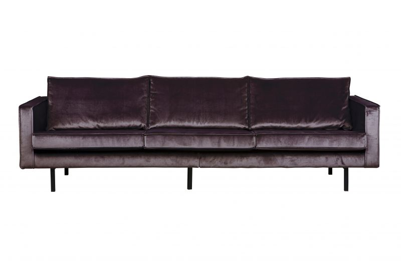RODEO VELVET SOFA 3 SEATER GREY