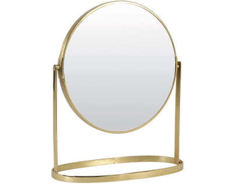 MAKEUP GOLD ROUND MIRROR