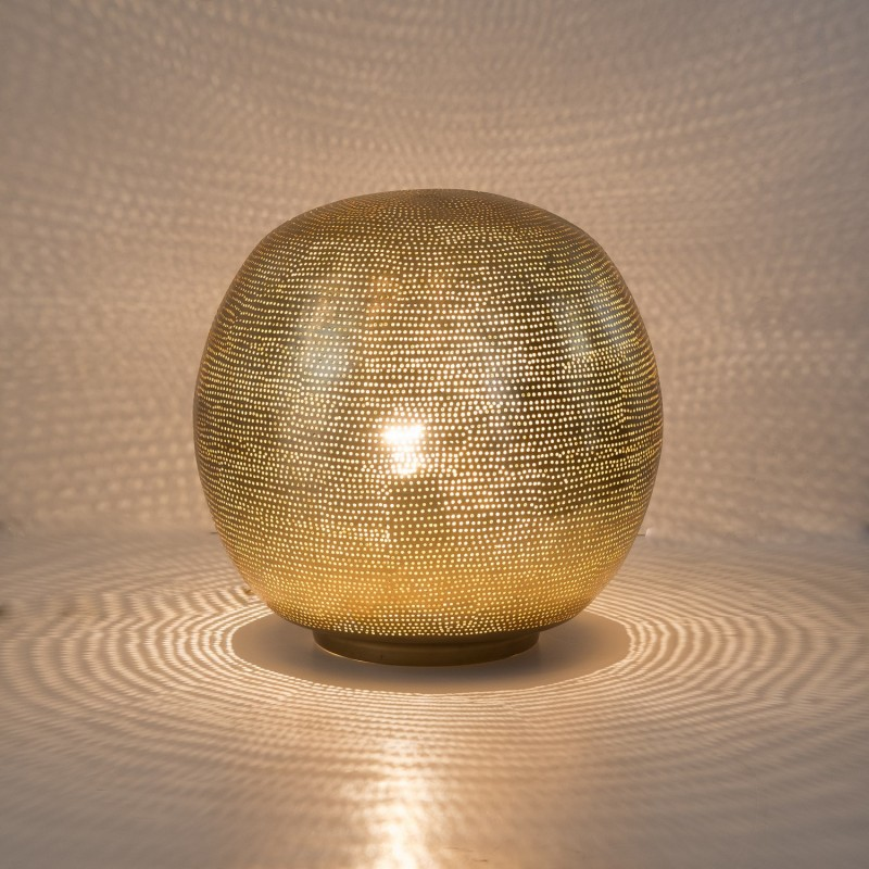 TABLELAMP HARI BALL MEDIUM GOLD     - TABLE LAMPS