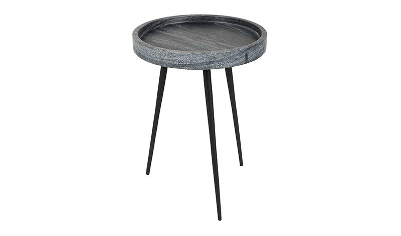 SIDE TABLE GREY MARBLE 33     - CAFE, SIDETABLES