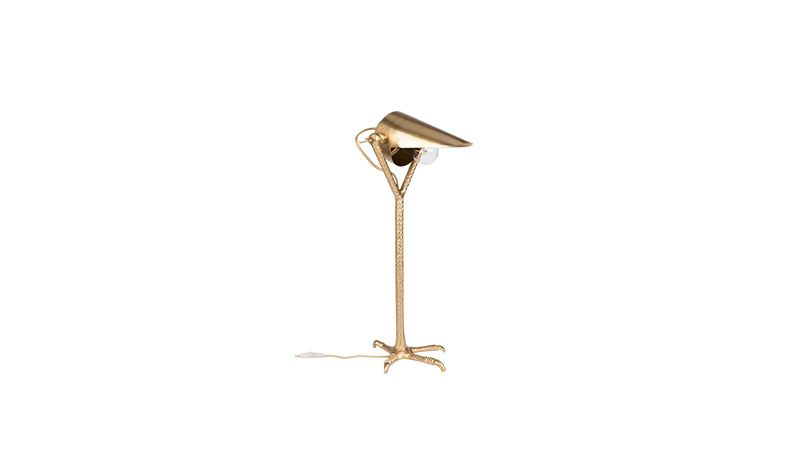DESK LAMP BIRD BLACK OR BRASS     - TABLE LAMPS