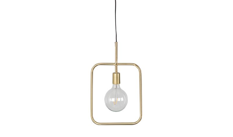 PENDANT LAMP SQUARE BRASS FINISH      - HANGING LAMPS