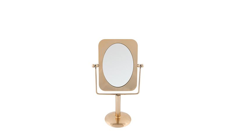 TABLE MIRROR BRASS COLOR