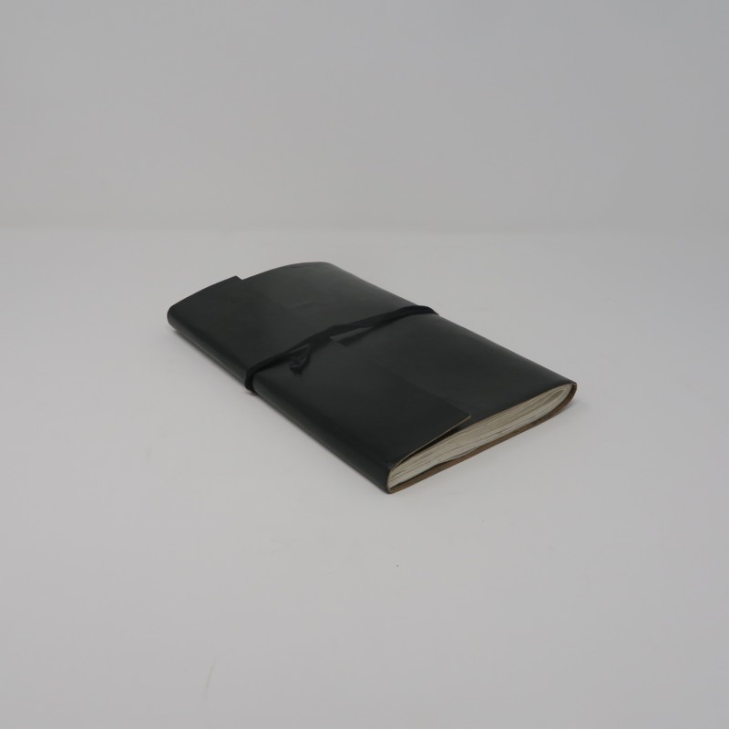 LEATHER NOTE BOOK BLACK