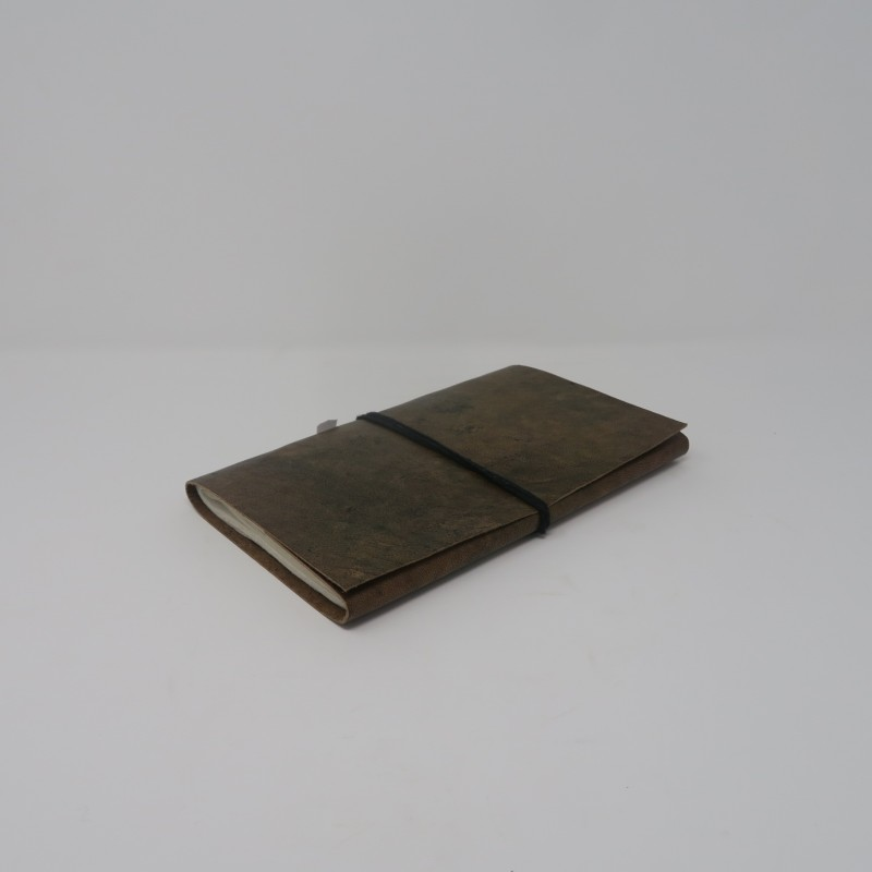 LEATHER NOTE BOOK GREEN