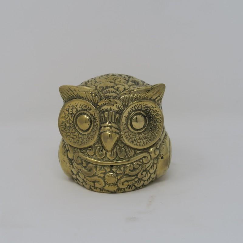 SMALL BRONZE OWL STATUE