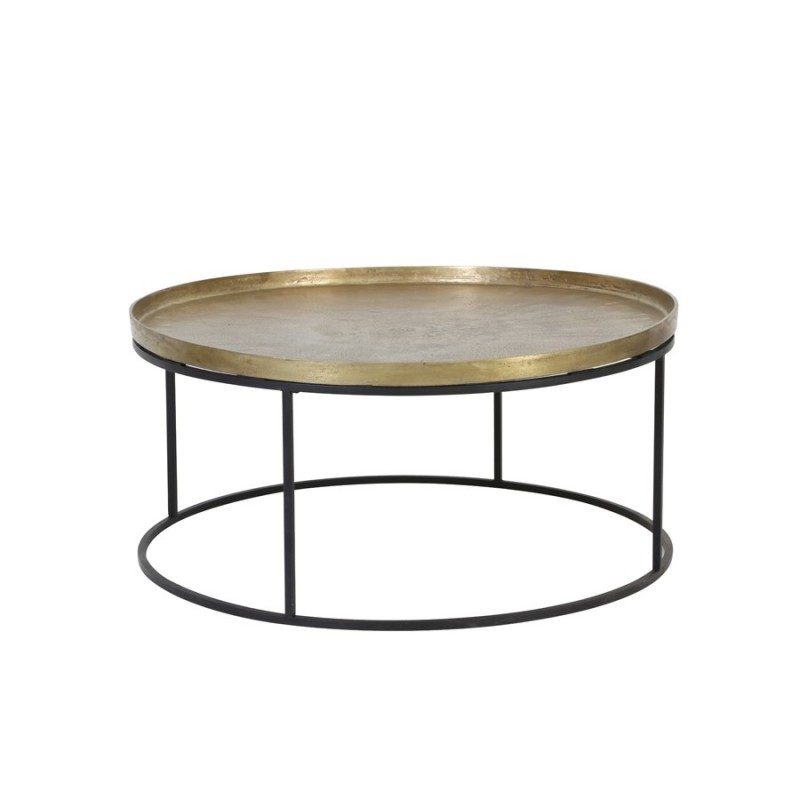 COFFEE TABLE ANTIQUE GOLD 90     - CAFE, SIDETABLES