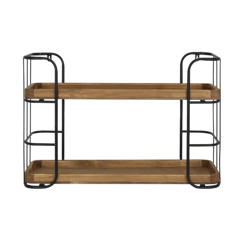 WALL SHELF WITH 2 WOOD LAYERS 70