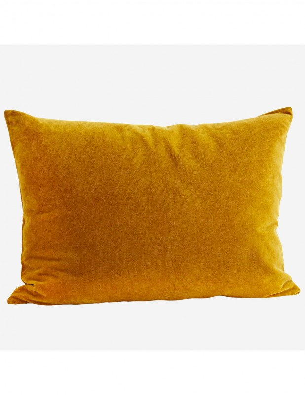VELVET CUSHION COVER MUSTARD     - CUSHIONS