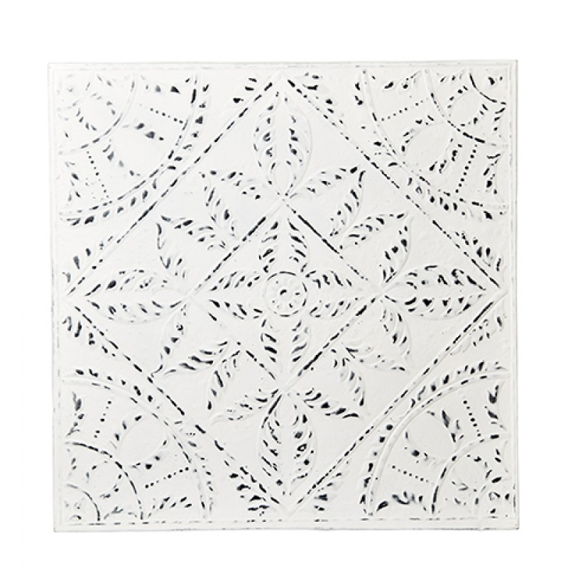 IRON PLATE TILE WHITE LINE - WALL PANEL