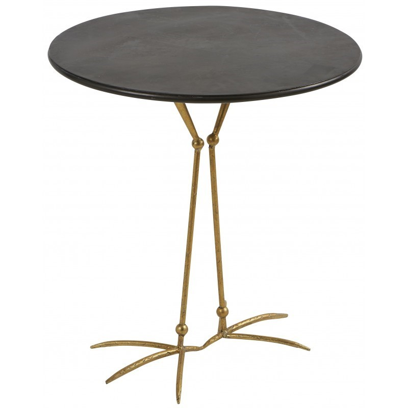 CAFETABLE BIRD GOLD LEG     - CAFE, SIDETABLES