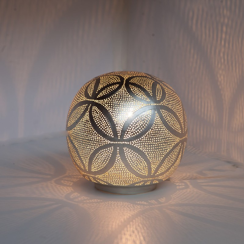 TABLE LAMP HARI BALL SMALL SILVER     - TABLE LAMPS