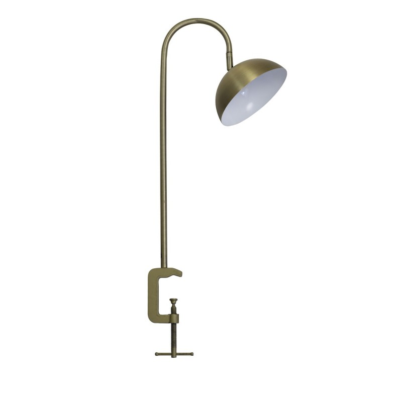 DESK LAMP LED ANTIQUE BRASS WITH CLIP     - TABLE LAMPS