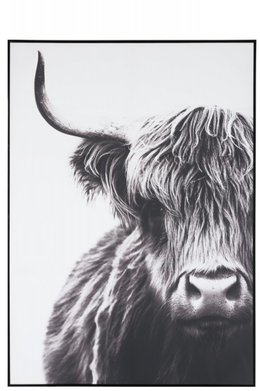 WALL DECO YAK PAPER BLACK AND WHITE - PHOTO CANVAS
