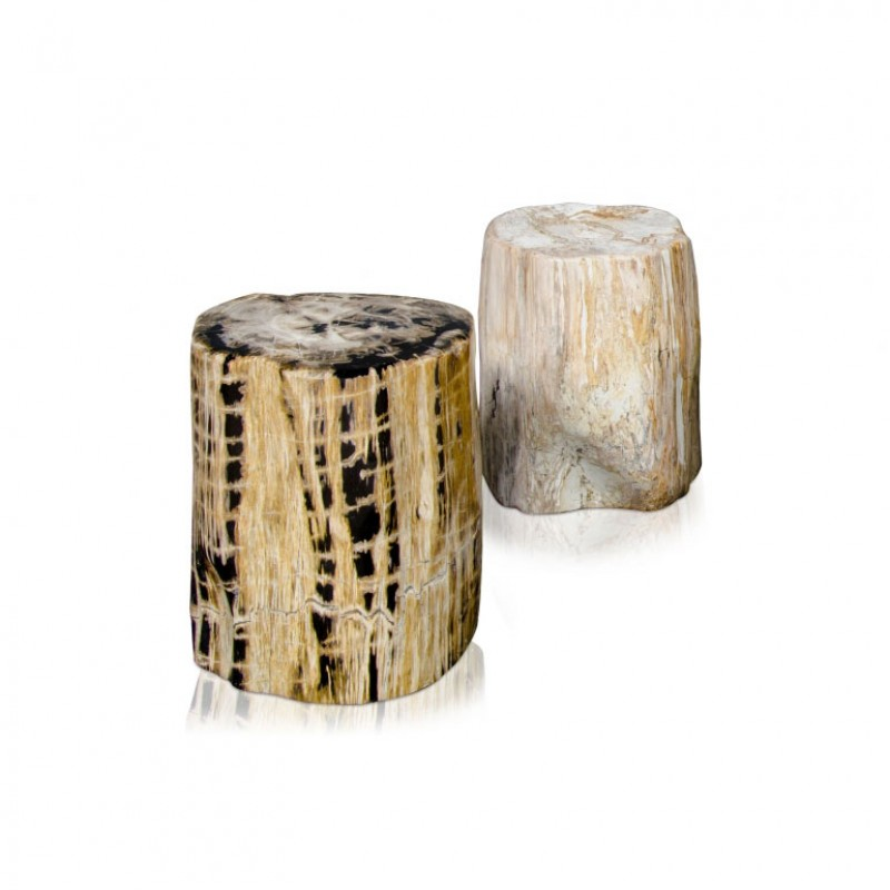 PETRIFIED WOOD STOOL POLISHED    - CHAIRS, STOOLS