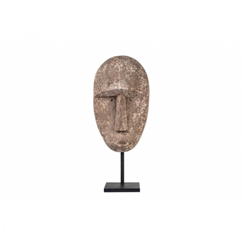 TIMOR WOOD MASK ON STAND       - DECOR ITEMS