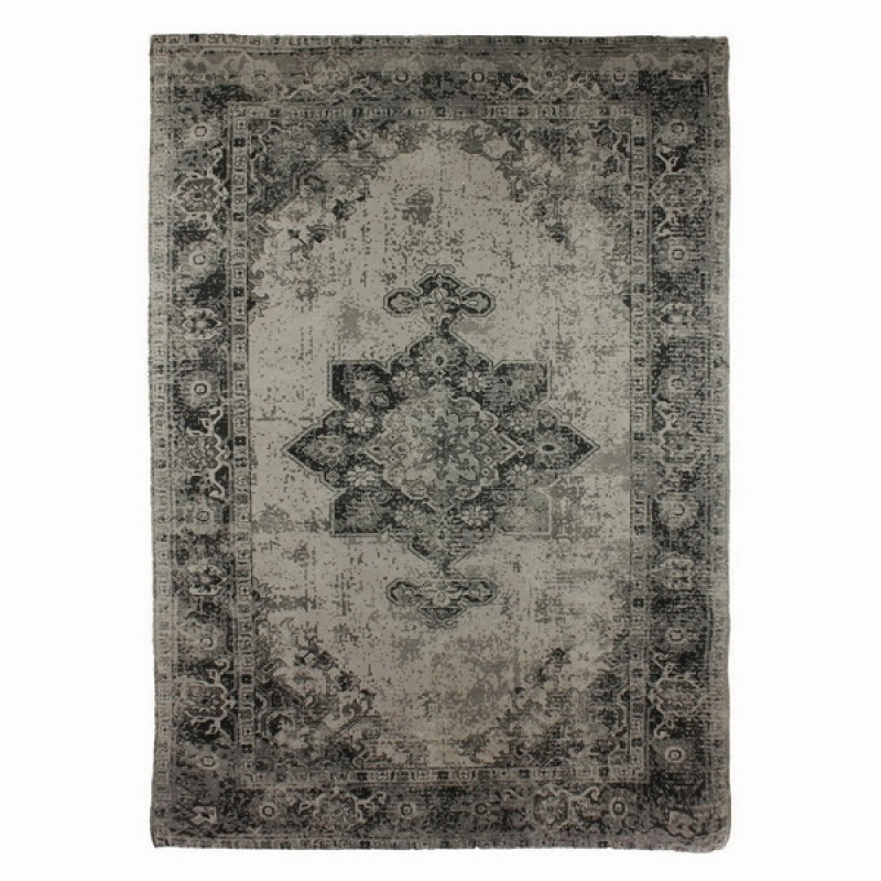 RUG GREY PERSIAN PRINT POLY