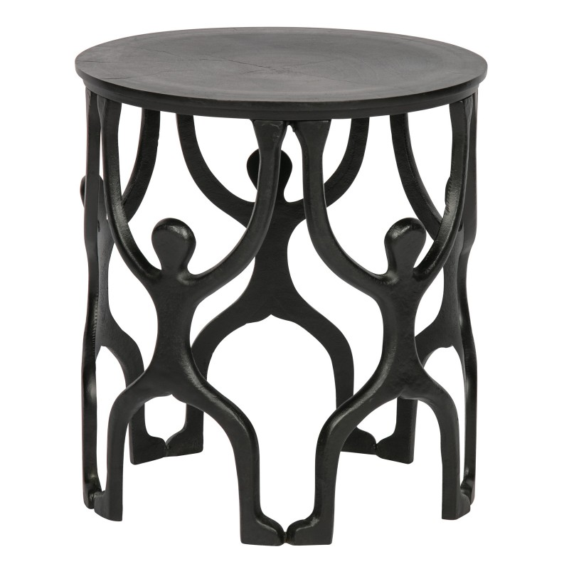 SIDETABLE MAN METAL BLACK     - CAFE, SIDETABLES