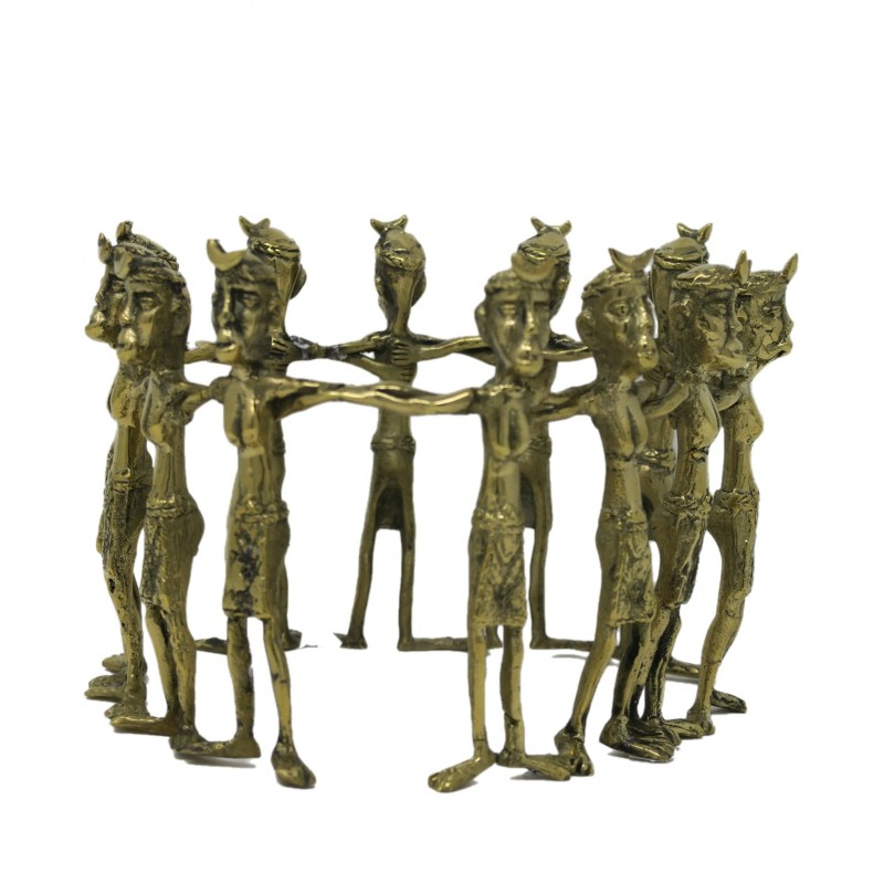 TRIBAL CIRCLE BRONZ GOLD COLOR - BRONZE STATUES