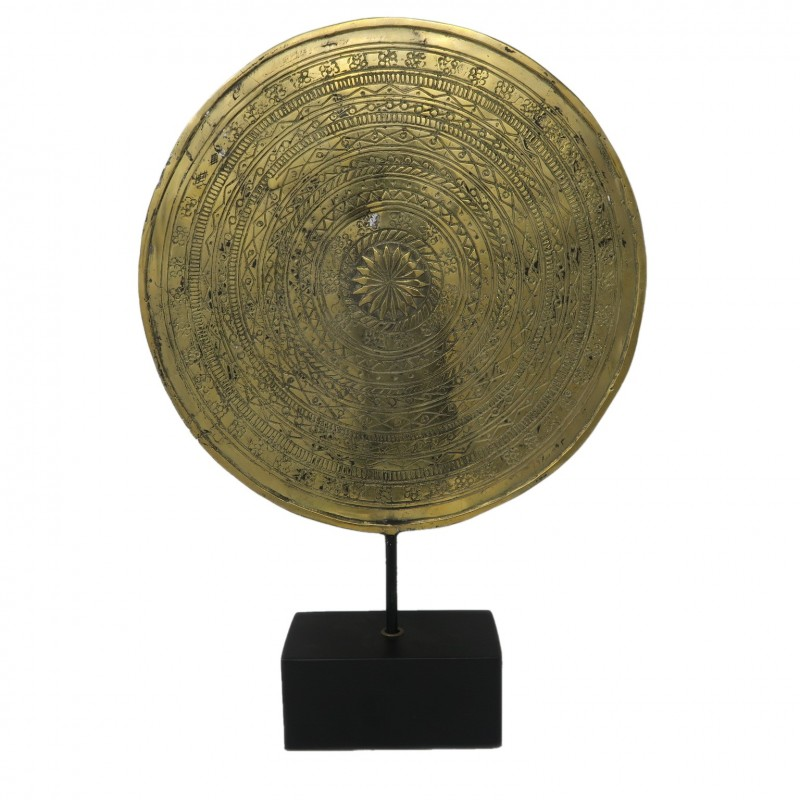 COIN ON STAND DECO BRONZE GOLD COLOR       - DECOR ITEMS