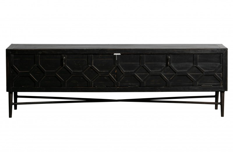TV UNIT HEXA WOOD BLACK - CABINETS, SHELVES
