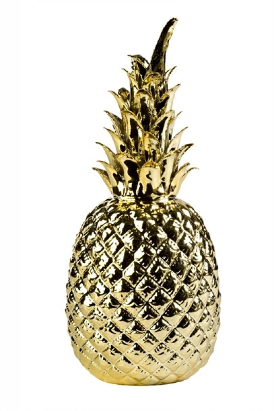 PINEAPPLE GOLD PORCELAIN       - DECOR ITEMS