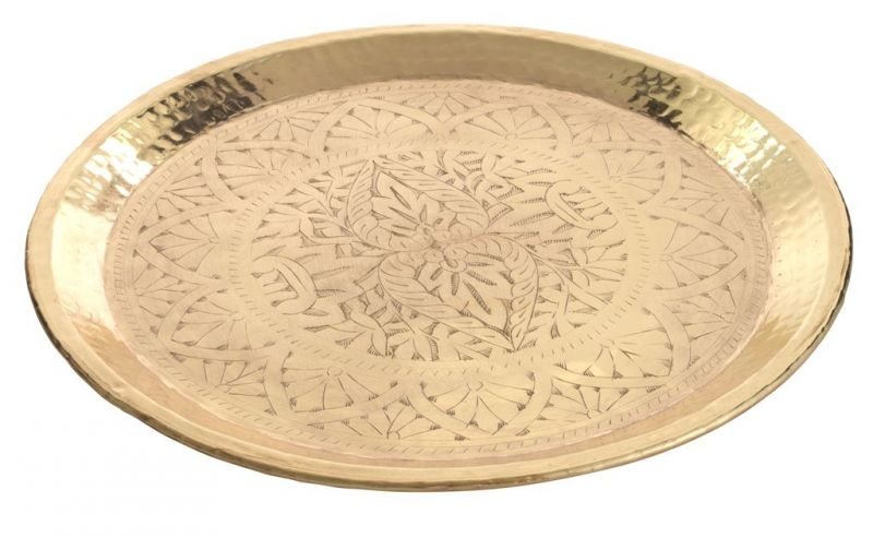 MOROCCAN ENGRAVED GOLD TRAY 50