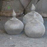 WIRE POT HAND MADE 3 SIZES      - POTS, VASES, PLATES