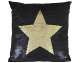 PILLOW STAR BLACK GOLD     - CUSHIONS