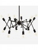 CEILING LAMP SPIDER BLACK      - HANGING LAMPS