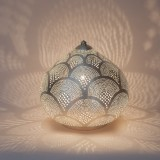 TABLE LAMP HARID FAN SMALL SILVER     - TABLE LAMPS