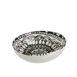BOWL BOHO BLACK AND WHITE CERAMIC