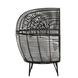 G MAMA LOUNGE CHAIR STEEL BLACK    - CHAIRS, STOOLS