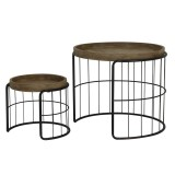 CAFETABLE BARRED WOOD TRAY TOP 2     - CAFE, SIDETABLES
