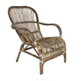 ARMCHAIR RATTAN BROWN 83    - CHAIRS, STOOLS