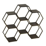 HEXAGON6 BRASS SHELF - CABINETS, SHELVES