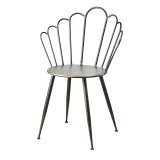 DINING CHAIR PROVENCE BLACK BRASS METAL    - CHAIRS, STOOLS
