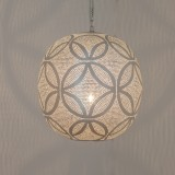 HANGING LAMP CRC BRASS SILVER PLATED 30      - HANGING LAMPS