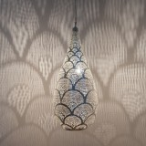 HANGING LAMP ELG FN BRASS SILVER PLATED      - HANGING LAMPS
