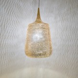 HANGING LAMP TRP FLSK GOLD PLATED      - HANGING LAMPS