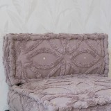 MOROCCAN SEAT AND BACK TAUPE     - CUSHIONS