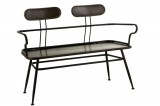 BENCH 2 SEAT BLACK METAL INDUSTRIAL   - BENCHES
