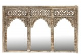 MIRROR MAROCCO 3 WINDOWS WHITE WASHED MANGO WOOD