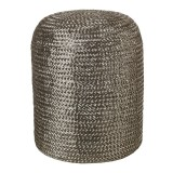 STOOL WOVEN PILL SILVER    - CHAIRS, STOOLS