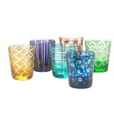 TUMMBLER GLASS SOT OF 6 MIX COLOR