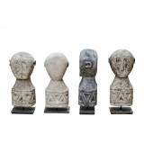 PRIMITIV NATURAL STONE STATUE ON STAND       - DECOR ITEMS