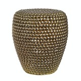 STOOL DOT BRASS    - CHAIRS, STOOLS