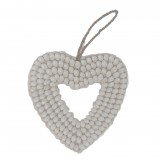 SHELL HEART WHITE PLAIN       - DECOR ITEMS